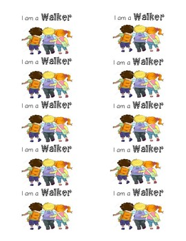 I am a walker labels