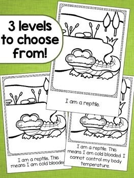 I am an Alligator Emergent Readers - 3 Levels Included