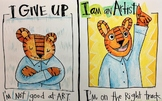 I am an Artist! Growth Mindset Poster: Tiger