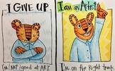 I am an Artist! Growth Mindset Poster: Tiger