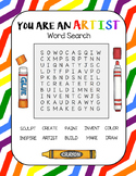 I am an Artist Word Search-- Art Puzzle