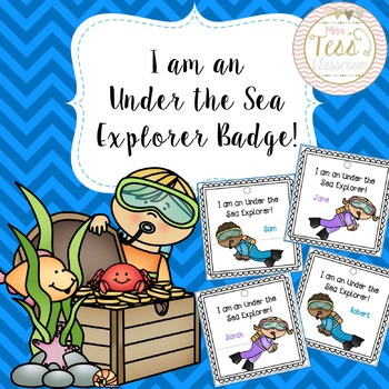 I am an Under the Sea Explorer Badges!