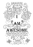 I am awesome colouring page