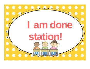 I am done station organization