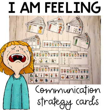 I am feeling. Emotion and feelings communication strategy cards. Autism