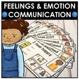 I am feeling. Emotion and feelings communication strategy cards. Autism