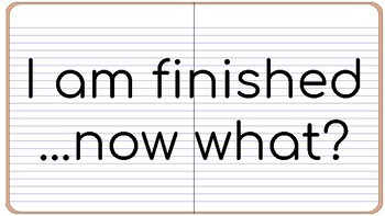 I am finished...now what?