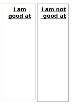 I am good at.../ not good at...