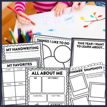 First Day of School KINDERGARTEN: A Clutter-Free Back to School Activity
