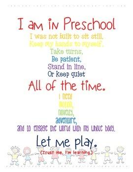 I am in Preschool