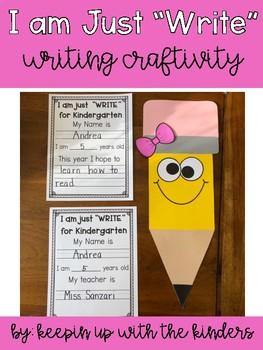 "I am just ""Write"" for Kindergarten-Second Grade"