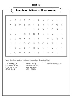 I am love: A Book of Compassion Word Search