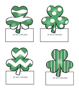 I am lucky because ~Saint Patrick's Day Creative Writing