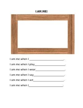 I am me worksheet