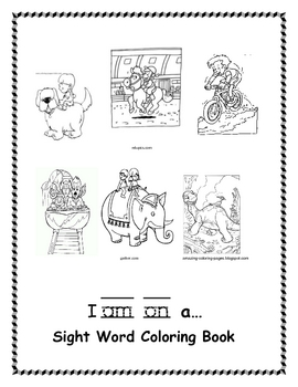 I am on a...Sight Word Coloring Book