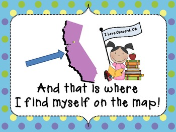 I Am on the Map of California Make and Take Book