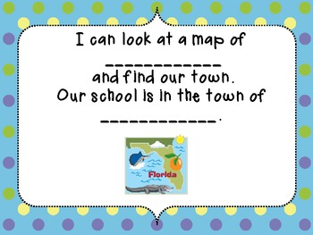 I Am on the Map of Florida Make and Take Book