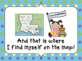 I Am on the Map of Louisiana Make and Take Book
