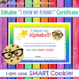 I am one Smart Cookie! I Know My Alphabet Certificate - Le