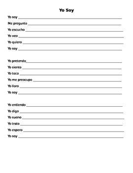 I am poem in Spanish