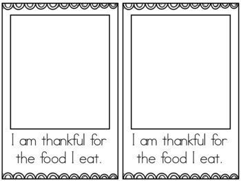 I am thankful - Thanksgiving Booklet