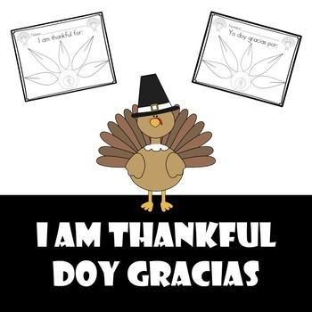 I am thankful for/ Doy gracias por writing (bilingual)