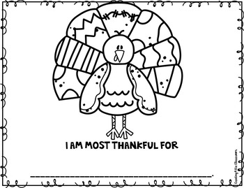 I am thankful for...Thanksgiving Activities Freebie!