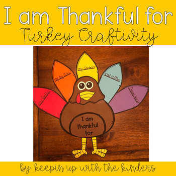 I am thankful for..Turkey Craftivity