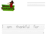 I am thankful for....... Writing Paper