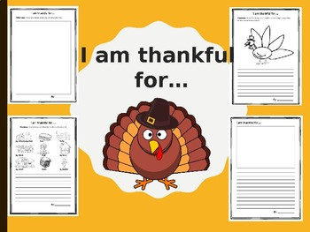 "Differentiated ""I am thankful"" activity"