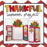 Thankful Read Aloud   I am thankful for   Lapbook Project