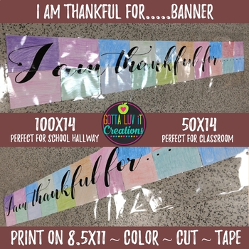 I am thankful for student collaborative banners - Free Download