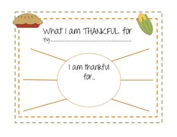 I am thankful for...FREEBIE!