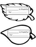 I am thankful for...(First Sheet)