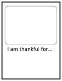 I am thankful writing