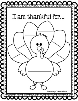 I Am Thankful Differentiated Writing