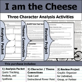 I am the Cheese - Character Analysis Packet, Theme Connections, & Project