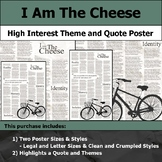 I am the Cheese - Visual Theme and Quote Poster for Bulletin Boards