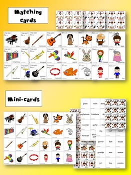 I am the Music Man - Matching cards, Mini-cards and Flashcards Games Pack