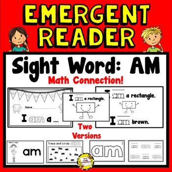 I am... (Shapes) Math Emergent Reader (Sight Word: AM)