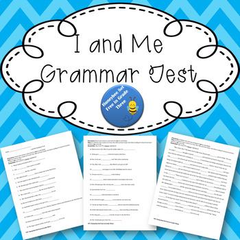 I and Me Grammar Test