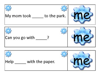 I and Me Snowflakes: When to use I and when to use me