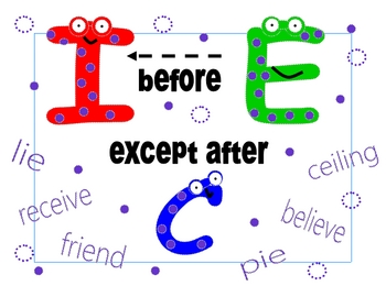 I before E except after C !