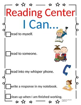 """""""I Can"""" Common Core Center Cards"""