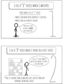 I Can Control My Voice Volume! Social Narrative - Social Story