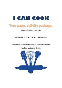 I can Cook Activity Bundle