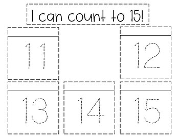 I can: Count to 20 Flap Journal entries