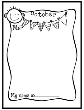 I can Draw Myself Month By Month for Preschool
