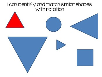 I can Identify Similar Shapes With and Without Rotation