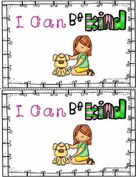 """I can"" Manners Emergent Reader"